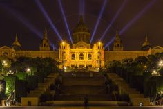 Museu Nacional d'Art de Catalunya at Night Barcelona Catalonia Spain  www.alamy.com/image-details-popup.asp?ARef=G08HBD marketplace.500px.com/photos/152966501 #architecture #barcelona #spain #landmark #museum #europe #montjuic #catalonia #spanish #art #building #national #famous #city #european #palace #catalunya #museu #nacional #catalan #culture #night #travel #attraction #sightseeing #view #d'art #espanya #illuminated #exterior