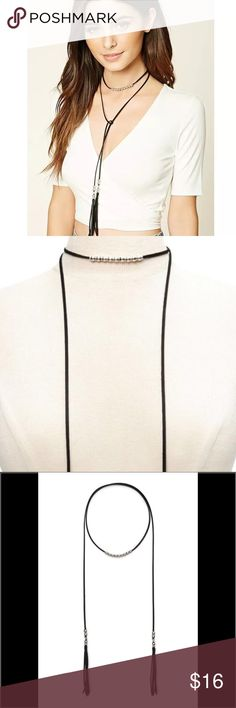 Spotted while shopping on Poshmark: Black tassel wrapping necklace! #poshmark #fashion #shopping #style #Jewelry