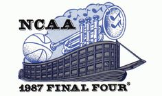 1987 NCAA Final Four Logo - Held in New Orleans, LA. Syracuse, Providence, Indiana, UNLV