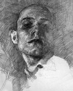 Drawing by #kamilSmala !  . . . . (self-portrait) . . . . #arts_gate…