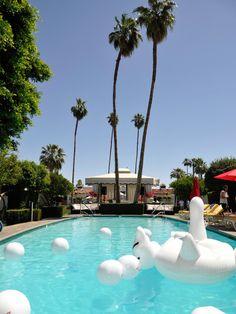 Fernweh? Hippe Hotels, coole Poolpartys und die Wüste - Palm Springs ist die perfekteMode-Kulisse.