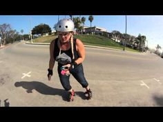 Rollerskating Tutorial: How to Rollerskate Downhill. - YouTube