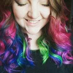 My northern lights hair created with Arctic fox hair color and manic panic