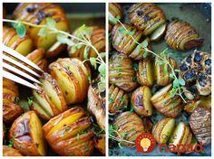 Výnimočné jedlo schuťou avôňou ďalekého Provensálska. Pripravte si úžasne chutné pečené zemiaky smaslom, pečeným cesnakom azmesou byliniek, ktoré premenia obyčajné jedlo na skutočný gurmánsky zážitok.  Potrebujeme:  600 g menších nových zemiakov    ¼ šálky olivového oleja    2 lyžice rozpusteného masla    ½