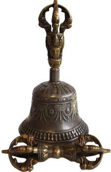 Antique Bell & Dorje (Dorje is a Tibetan word. It refers to the ritual object that is held in the right hand of a Lama during various religious ceremonies)