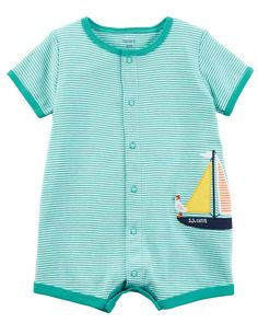 Baby Boy Sailboat Snap-Up Cotton Romper | Carters.com