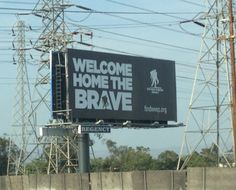 On the 57 FWY in so Cali. Awesome. In honor of all our wounded warriors