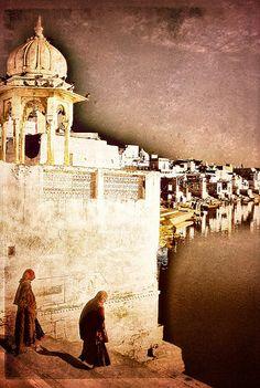 Hindu holy lake of Pushkar .. Rajasthan India  https://www.facebook.com/nikhaarfashions