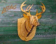 Купить Декор голова оленя - бежевый, Декор, декоративная голова, декоративный олень, декоративное животное