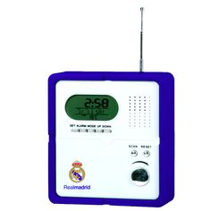 Real Madrid Radio With Digital Clock & Alarm Real Madrid Official Merchandise Available at www.itsmatchday.com