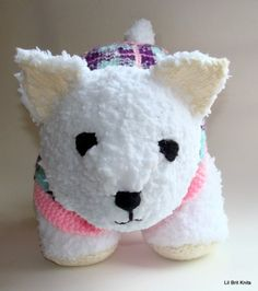 Hand Knitted #Westie Girl Dog | LilBritknits - Novelty on ArtFire #afpounce