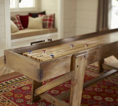 I want this so bad. Pottery Barn Shuffleboard Table | Pottery Barn
