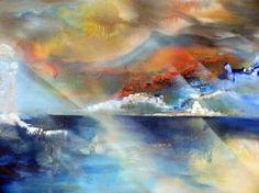 "Saatchi Online Artist Iskra Penkova; Painting, ""Sunset"" #art"