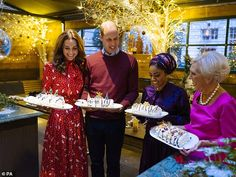 Pictured from left to right: The Duke and Duchess of Cambridge, Nadiya Hussain and Mary Be...