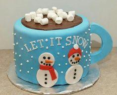 Mug of cocoa cake