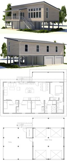 Container House - Container House - House Plan 2017 - Who Else Wants Simple Step-By-Step Plans To Design And Build A Container Home From Scratch? - Who Else Wants Simple Step-By-Step Plans To Design And Build A Container Home From Scratch? Beach House Plans, Modern House Plans, Small House Plans, Modern House Design, House Floor Plans, Casas Containers, Building A Container Home, Suites, Home Design Plans