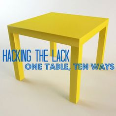 IKEA's Lack table is a DIYer's perfect canvas for unbridled creativity