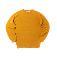Harley of Scotland - Shaggy Dog Crew Neck Sweater - Nugget