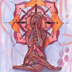 Yoga Art Print - Moments of Stillness - yoga square wall art, yoga room decor… Yoga Illustration, Spiritual Paintings, Yoga Logo, Chakra Art, Yoga Art, Hippie Art, Yoga Inspiration, Asana, Yoga Poses