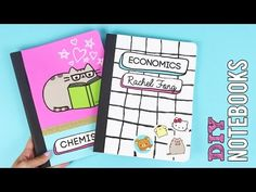 25 DIY Notebooks: DIY School Supplies & Projects! Back To School 2016-2017 - YouTube