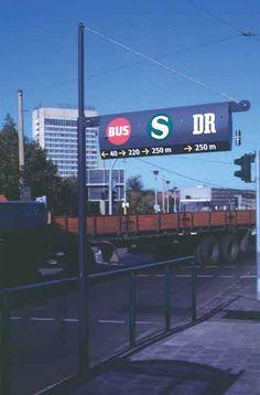 Potsdam Transit System. Signage Wayfinding and Identity System. MetaDesign. Erik Spiekermann