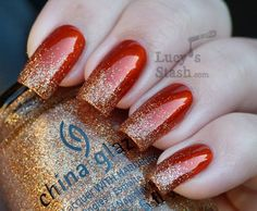 Autumn Glitter Gradient