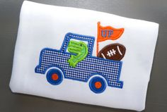 Florida Gator Applique Shirt FSU Boys Football by PalmValleyKids