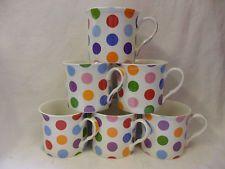 Set of 6 Polka Dots china palace mugs