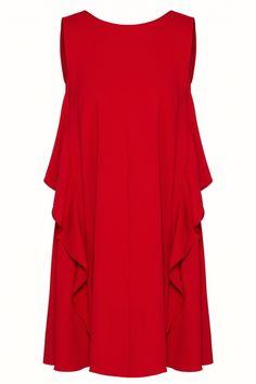 Red Valentino Damen Kleid mit Volants Rot | SAILERstyle Valentino Garavani, Trends, Formal Dresses, Fashion, Valentino Red, Clothing, Dresses For Formal, Moda, Formal Gowns