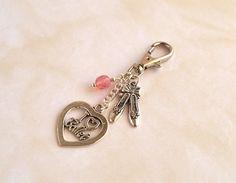I love ballet bag charm, Ballet gifts, Ballet slippers, Key charm, Gifts for girls, UK shop