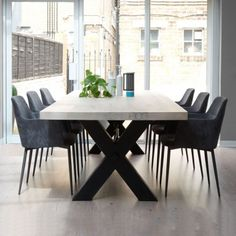 Bolt Industrial Wood Dining Table & Metal Legs