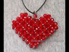 Kalp Modeli Cevşen Kolye Yapımı - YouTube