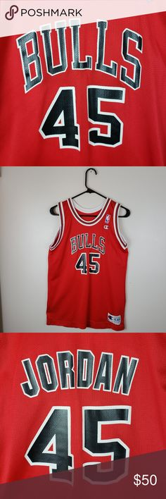 2ea227006f5b Michael Jordan 45 Champion Jersey Kids XL 18-20 Michael Jordan 45 Kids XL 18