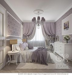 Лавандовая дамская спальня http://www.ok-interiordesign.ru/blog/neoclassical-lady-bedroom.html