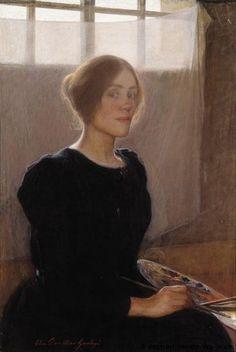 Nordic Art. Elin Danielson-Gambogi: 'Zelfportret' | Groninger Museum | Antell Collection, Ateneum Art Museum, Helsinki