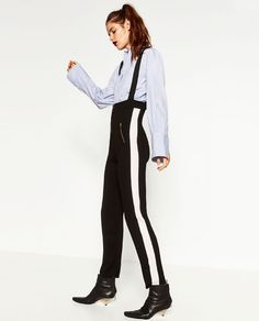 Image 3 of TROUSERS WITH BRACES from Zara