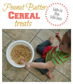 Kids in the Kitchen: Peanut Butter Cereal Bars | Simple. Home. Blessings