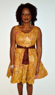 African Couture - Brown And Gold African Short Dress Ankara, Shop Now Up To 70% Off  (http://www.africancouture.ca/brown-and-gold-african-short-dress-ankara/)