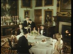 Period Pieces and Portraiture: Highclere Castle. Jeeves and Wooster: Series Two, Episode One (Jeeves Saves the Cow Creamer)- Dining Room