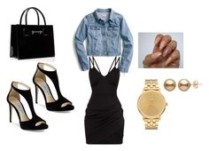 """""""Untitled #1"""" by terencia-chanthakumarr ❤ liked on Polyvore featuring J.Crew, Jimmy Choo and Nixon"""