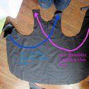 sew opposite shoulders together
