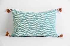 Horizon Lumbar Pillow with Tassels