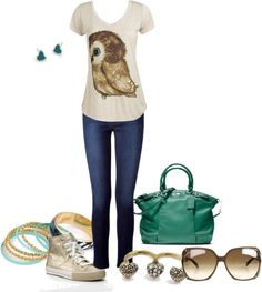 """""""A Touch of Teal"""" by charmedbystacy ❤ liked on Polyvore"""