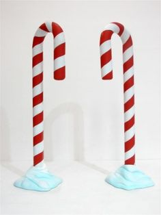 Winter Wonderland Party Themed Prop Hire & Christmas Theming: Giant Candy Cane Prop (Snow)