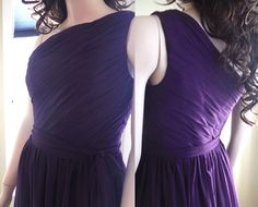 Dark purple bridesmaid dress Long Bridesmaid Dress by HolliexKate