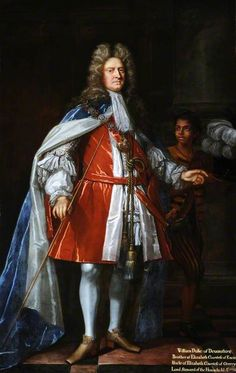 WILLIAM CAVENDISH, 1ST DUKE OF DEVONSHIRE, 4TH EARL OF DEVONSHIRE (1640-1707) appointed Lord High Steward by William of Orange, attrib. John Closterman (1660-1711) at Hardwick Hall, Derbyshire., Hardwick Hall at National Trust