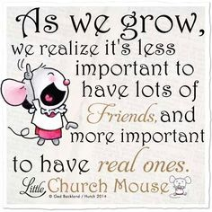 As we grow, ee realize...