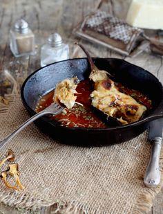 Mi Gran Diversión: Berenjenas rellenas de pollo y setas