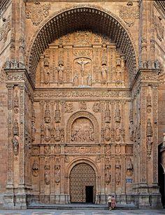 Puerta Iglesia Convento de San Esteban, Salamanca.