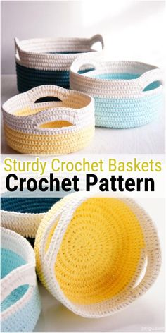 Sturdy Crochet Baskets with Handles I am going to show you some crochet basket patterns which will increase your home d cor Crochet Yarn Stash Basket crochethomedecor crochetbasketpatterns crochetstorageideas crochetpatterns basketcrochetpatterns # Crochet Lion, Easy Crochet, Free Crochet, Knit Crochet, Crochet Bags, Crotchet, Crochet Basket Pattern, Crochet Patterns, Crochet Baskets